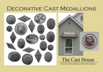 decorative medallions postcard